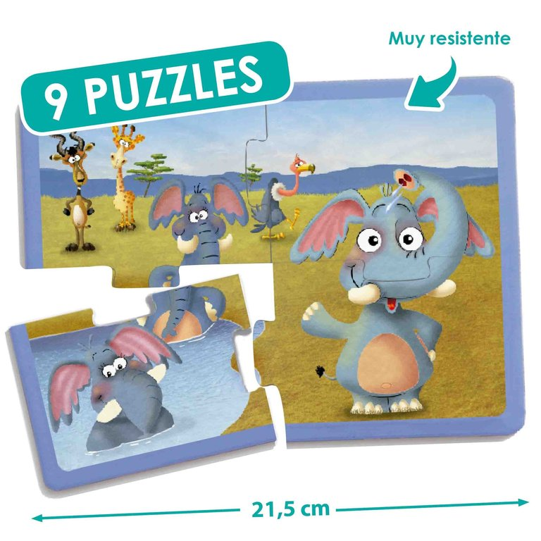 Set puzles animales (9 uds)
