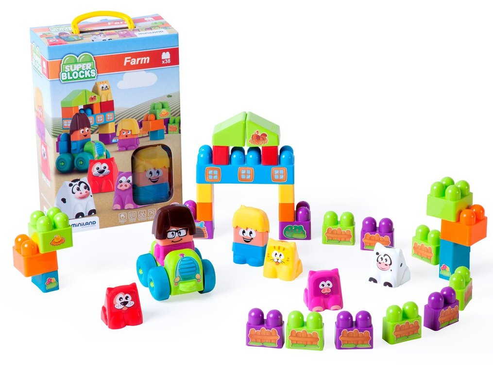Súper blocks farm 38 pcs