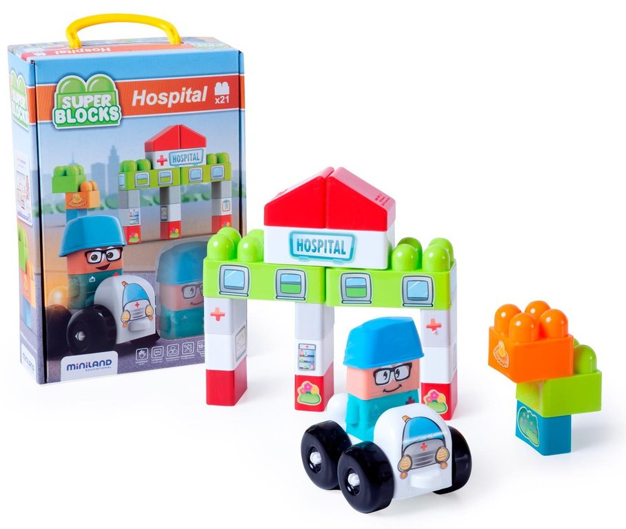 Súper blocks hospital 21 pcs