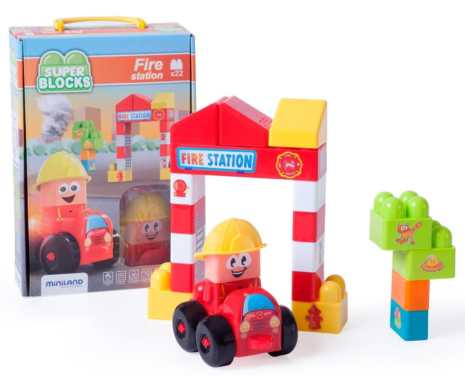 Súper blocks fire station 22 pcs