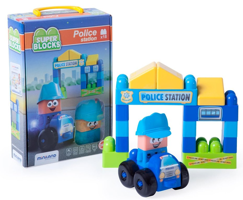 Súper blocks police station 18 pcs