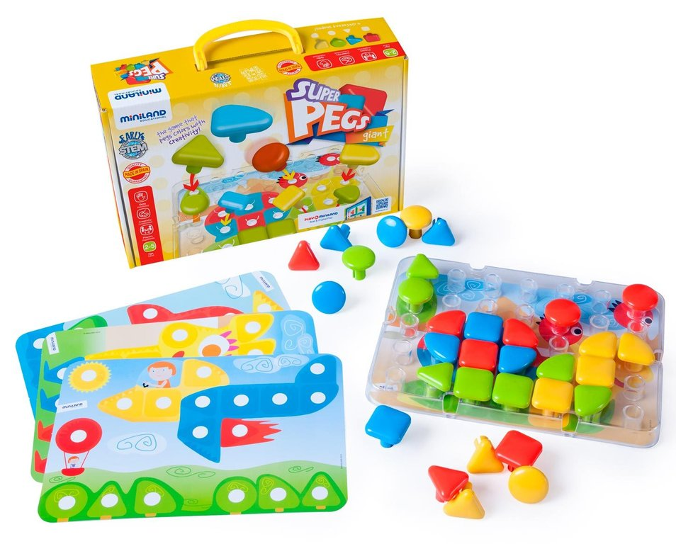 Superpegs 32 pcs colors brillants