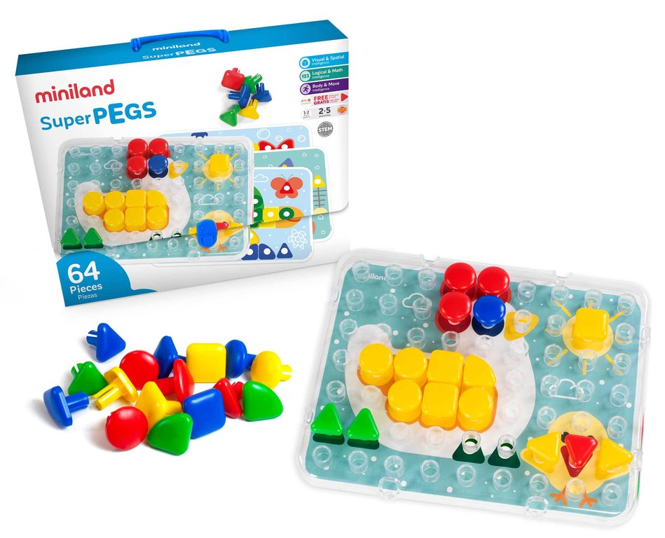 Superpegs 64 pcs colors brillants
