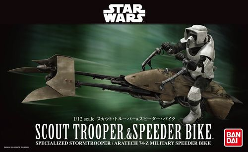 BANDAI 2259073 1/12 Scout Trooper and Speeder Bike