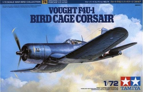 TAMIYA 60774 1/72 Vought F4U-1 Bird Cage Corsair