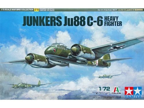 TAMIYA 60777 1/72 Junkers Ju88 C-6 Heavy Fighter