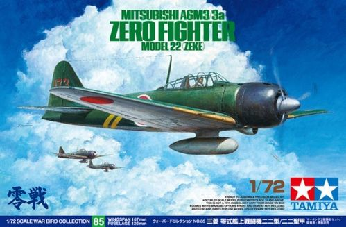 TAMIYA 60785 1/72 Mitsubishi A6M3/3a Zero Fighter Model 22 (Zeke)