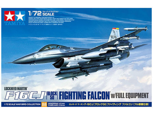 TAMIYA 60788 1/72 Lockheed Martin F-16CJ [Block 50] Fighting Falcon w/Full Equipment