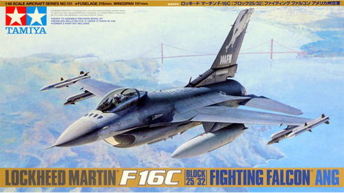 TAMIYA 61101 1/48 Lockheed Martin F-16C (Block 25/32) Fighting Falcon ANG