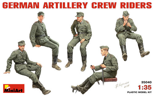 MINIART 35040 1/35 German Artillery Crew Riders