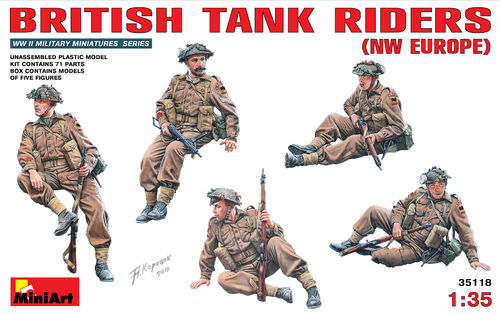 MINIART 35118 1/35 British Tank Riders (NW Europe)