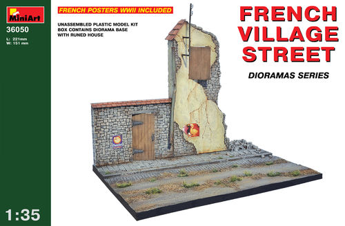 MINART 36050 1/35 French Village Street  (diorama base)