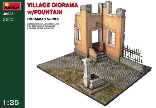 MINART 36028 1/35 Village Diorama w/Fountain (diorama base)