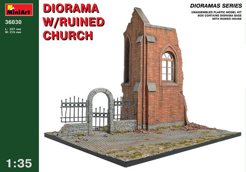 MINART 36030 1/35 Diorama w/Ruined Church (diorama base)