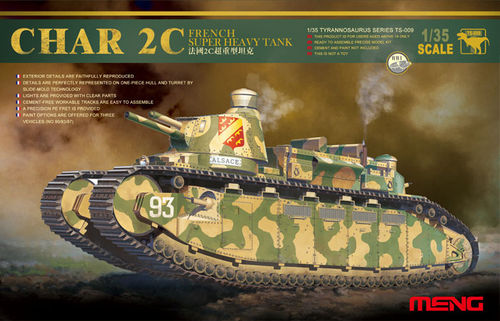 MENG TS-009 1/35 French Super Heavy Tank CHAR 2C