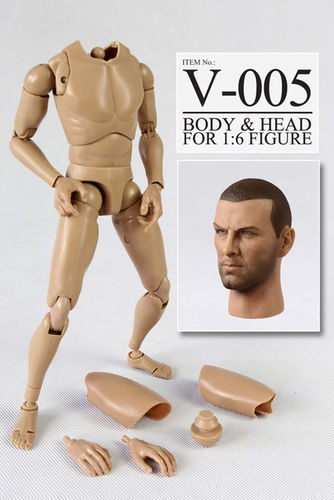 "VERY HOT V-005 1/6 V1-N Body & head for 12"" figure"
