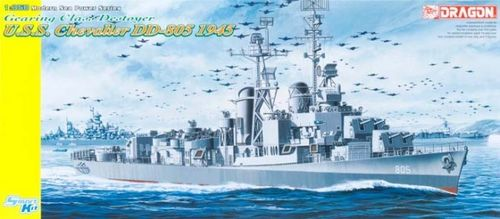 DRAGON 1046 1/350 U.S.S. Chevalier DD-805 Gearing Class Destroyer 1945