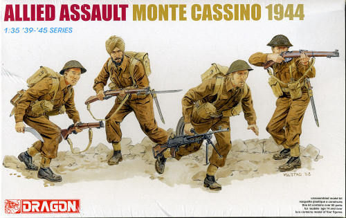 DRAGON 6515 1/35 Allied Assault Monte Cassino 1944