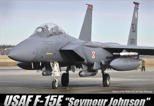 "ACADEMY 12295 1/48 USAF F-15E ""Seymour Johnson"""
