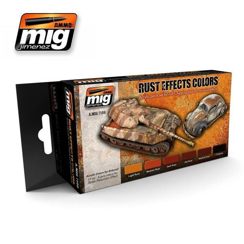 AMMO of Mig Jimenez A.MIG-7106 Rust Effects Colors Set