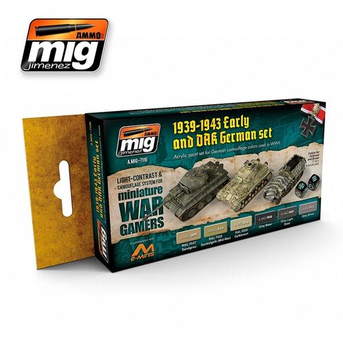AMMO of Mig Jimenez A.MIG-7116 Wargame Early & DAK German Set