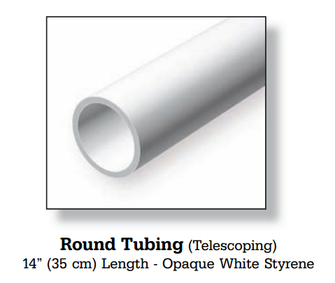 EVERGREEN Round Tubing - Opaque White Styrene
