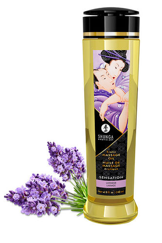Shunga Massage Oil Sensation - Lavanda