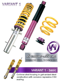 KIT SUSPENSION KW V1 INOX BMW SERIE 3 E46 COMPACT (346K) 06/01-