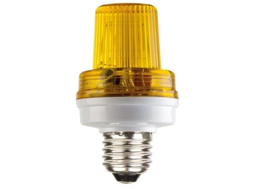 Mini lámpara estroboscópica color amarillo 3,5W E-27. REF. VDLSLY