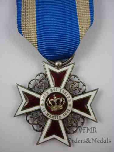 Romania: Order of the Crown, 1st type (before 1932)
