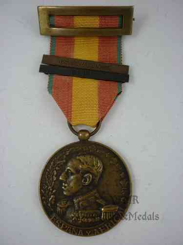 Africa medal with two clasps