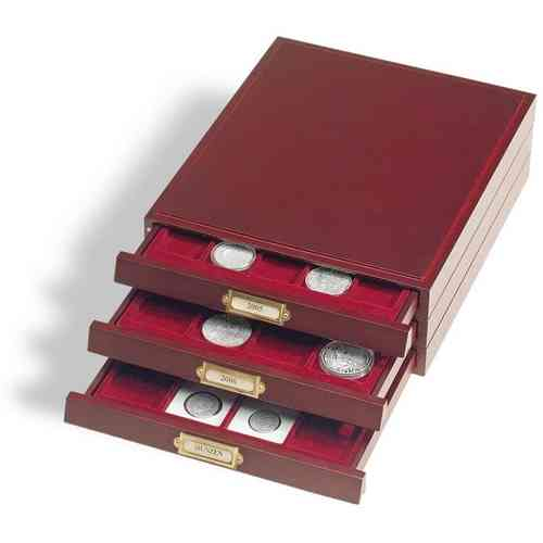 Wooden stackable coin box