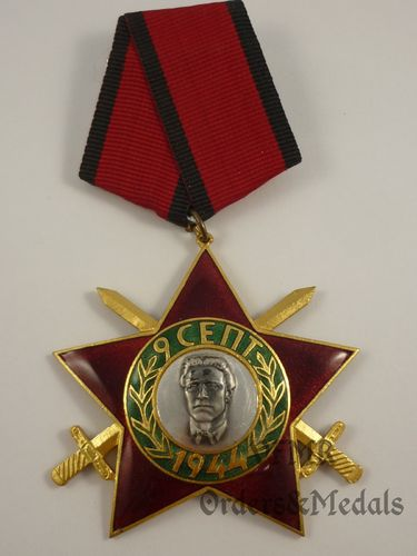 Bulgária - Order of 9 September 1944 3rd class with swords
