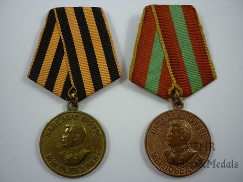 Victory over Germany medal and medal for valiant labor in the Great Patriotic War