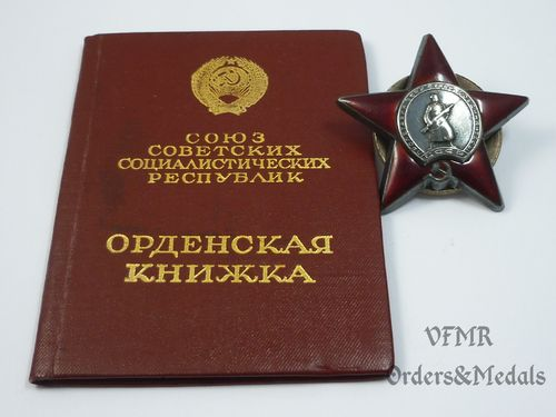 Order of Red  Star with document