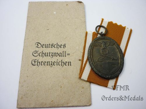 West wall medal with ceremony bag