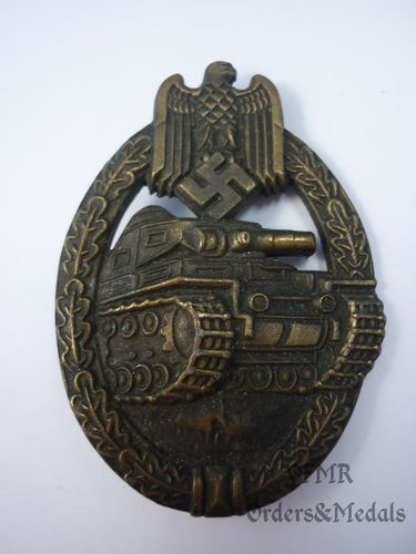 Panzer Assault Badge in bronze