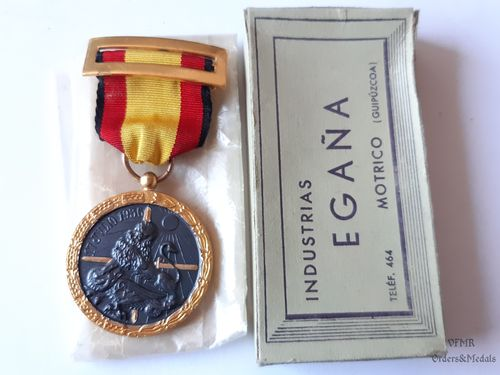 Spanish Civil War campaign medal, combatants, with case